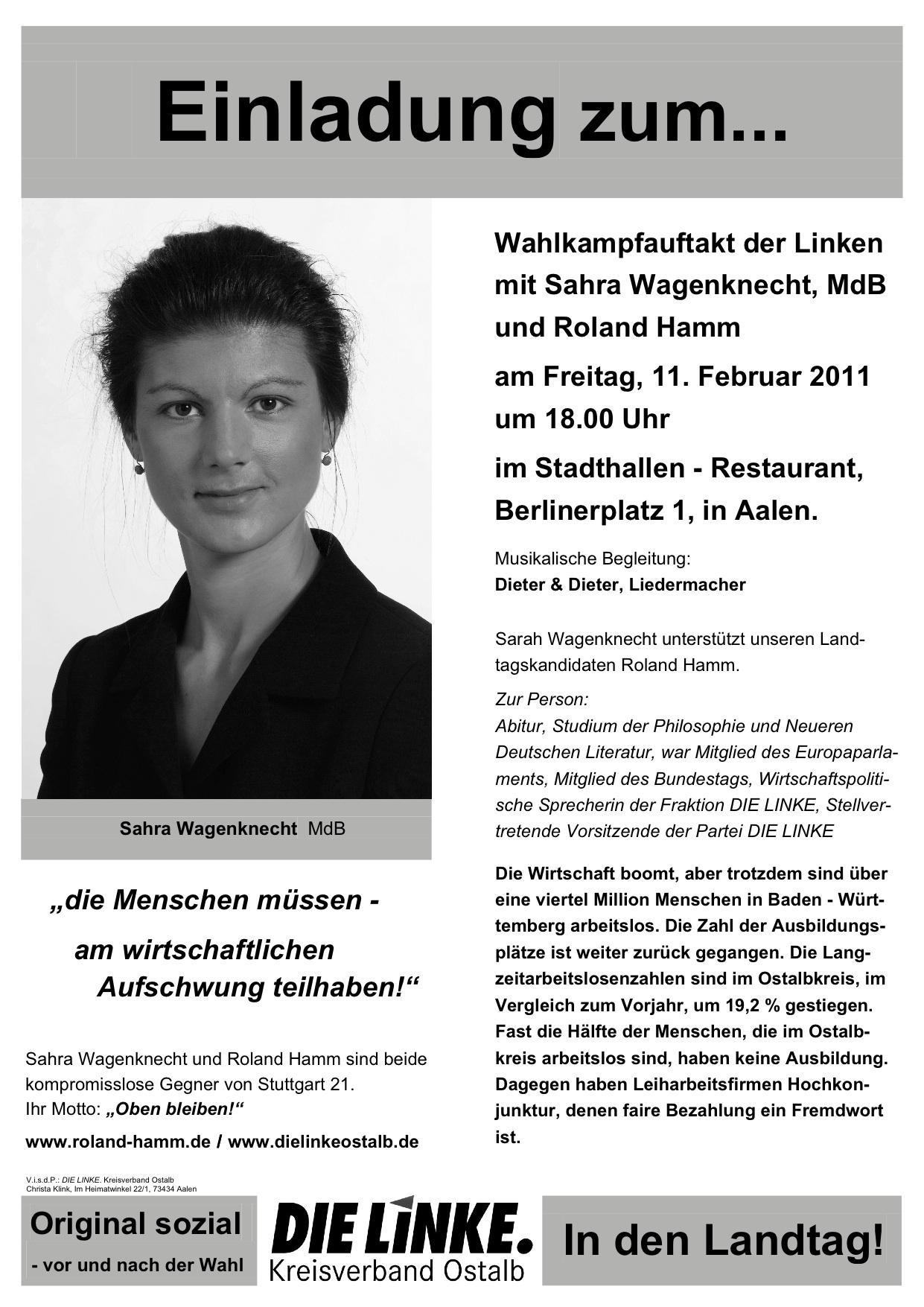 Wagenknecht Veranstaltung 11.02.11 in Aalen