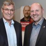 Bernd Riexinger und Roland Hamm, Wahlkampfauftakt LTW 2016