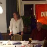 Caren Lay, MdB mit Roland Hamm, Wahlkampfveranstaltung zur LTW 2016 in Ellwangen